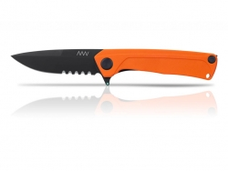 Z100 - DLC, Liner Lock, G10 Orange, Wellenschliff
