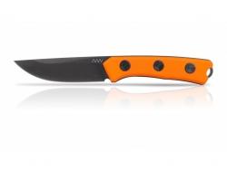 P200 Mk.II - DLC Satin-Schwarz, einfache Kante, Griff Orange, Kydexscheide